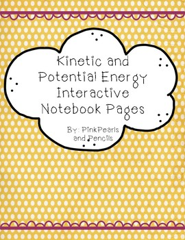 Kinetic and Potential Energy Interactive Notebook Reading Passages Printable