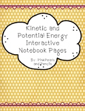 Kinetic and Potential Energy Interactive Notebook Reading