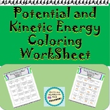 Kinetic and Potential Energy Printable Coloring Worksheet Activity