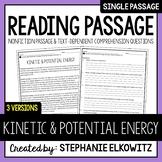 Kinetic and Potential Energy Reading Passage