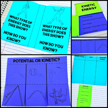 Kinetic & potential energy Interactive Notebook