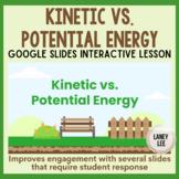 Kinetic vs. Potential Energy Google Slides Lesson