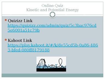 Kinetic vs. Potential Energy Online Quiz
