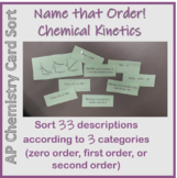 Kinetics Card Sort - Name that Order!  Relay Race or Tradi