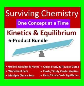Kinetics & Equilibrium 6-Product Bundle: HS Chemistry Notes, Worksheet..etc