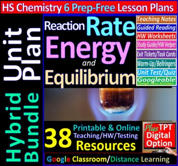 Kinetics, Equilibrium & Entropy Topic Bundle: 6 Essential Skills Guided Lessons