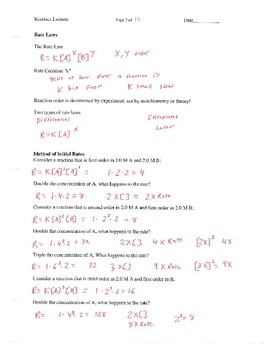 Kinetics and Reaction Rates Lectures for AP Chemistry
