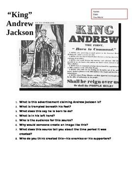 """King"" Andrew Jackson Primary Source Analysis (DBQ)"