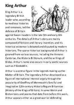 King Arthur Handout