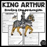 King Arthur Reading Comprehension Worksheet, Legend, Freak