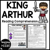 King Arthur Reading Comprehension Worksheet, Legend, Freak