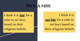 King Ashoka's Edicts: Sides of the Room Debate