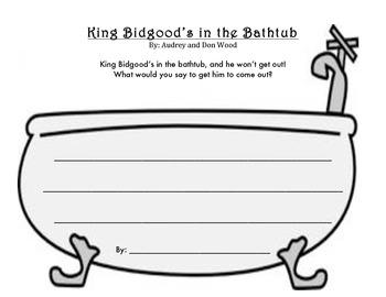 King Bidgood S In The Bathtub Writing Activity By Rgam Tpt