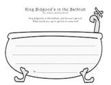 King Bidgood's in the Bathtub Writing Activity