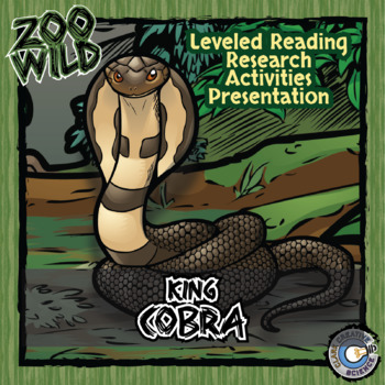 King Cobra -- 10 Resources -- Coloring Pages, Reading & Activities
