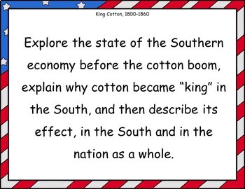 King Cotton and the Antebellum South Projects and Reviews