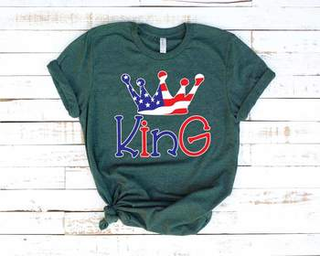 King Crown USA Flag SVG Royal Crown Castle Fairy Tale Prince Charming 1263S