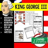 King George III Biography Research, Bookmark Brochure, Pop-Up, Writing