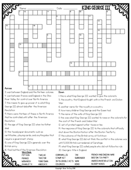 King George III Crossword