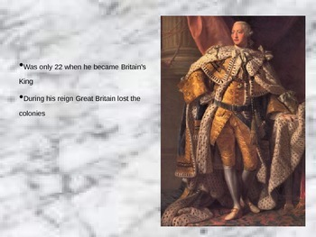 King George III PowerPoint