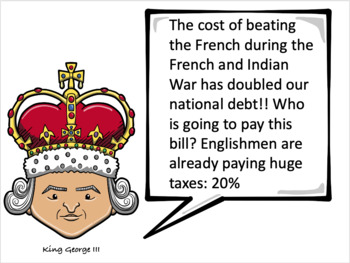 King George III and his Tax Collectors: Simulation Activity