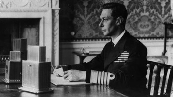 King George speech WW2 persuasive techniques writing analysis