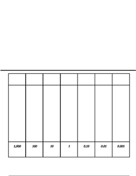 King Henry Metric Chart foldable
