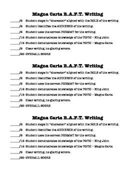 King John and the Magna Carta - RAFT Writing