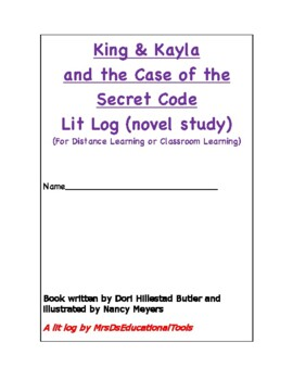 King & Kayla and the Case of the Secret Code Lit Log