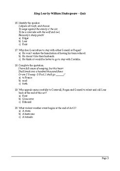 king lear quiz