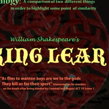 King Lear Analogy poster