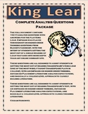 King Lear Analysis Questions Package