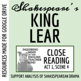 King Lear Close Reading Analysis of Act 1 Scene 4 for Goog