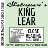 King Lear Close Reading Analysis of Act 2 Scene 1 for Goog
