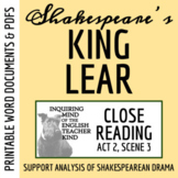 King Lear Close Reading Analysis of Act 2 Scene 3 - Word D