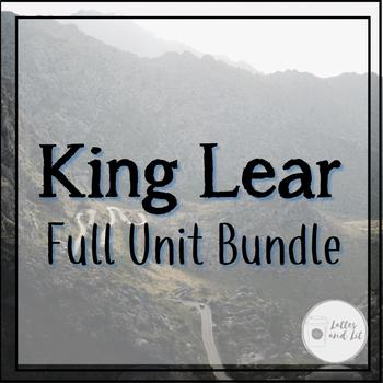 king lear unit bundle with essay prompts discussion qs projects  king lear unit bundle with essay prompts discussion qs projects   more