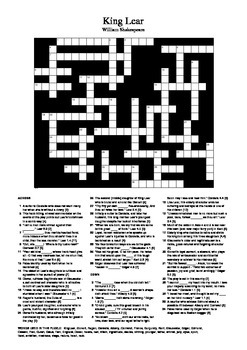 King Lear - Review Crossword Puzzle