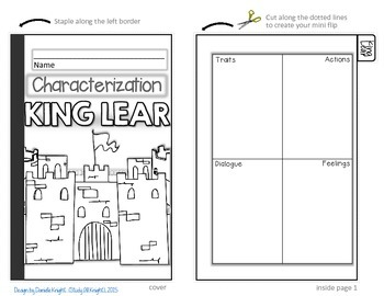 KING LEAR: INTERACTIVE NOTEBOOK CHARACTERIZATION MINI FLIP