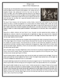 King Lear- The Story - Reading Comprehension Worksheet