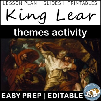 King Lear Themes Textual Analysis Activity