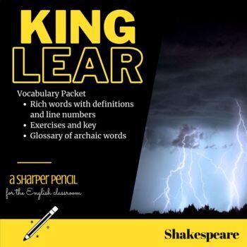 King Lear Vocabulary Packet: Definitions, Exercises, Key (Folger Ed.)