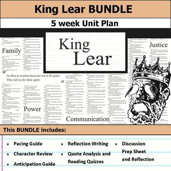 King Lear by William Shakespeare Unit Bundle