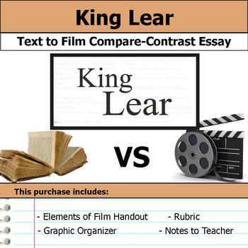 King Lear by William Shakespeare - Text to Film Essay Bundle