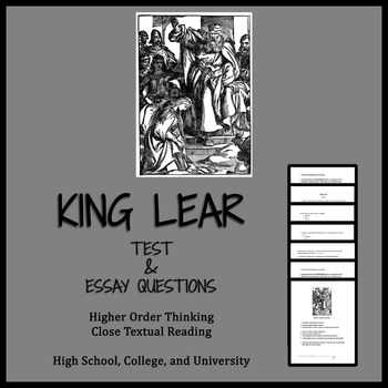 King lear character essay