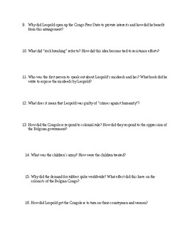 King Leopold's Ghost video Questions