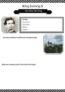 King Ludwig II: The Fairy Tale King: Research Activity