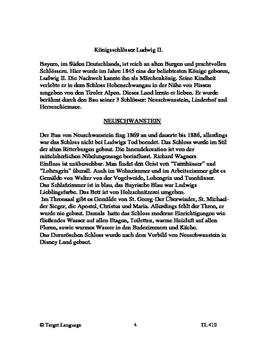 King Ludwig II's Castles, German Study Guide
