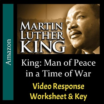 King: Man of Peace in a Time of War - Video Worksheet & Key (Editable)