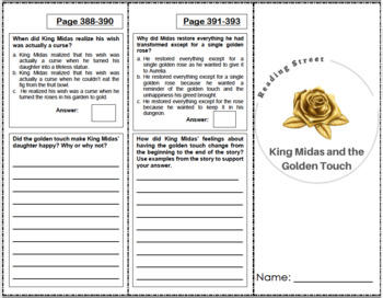 King Midas and the Golden Touch - 5th Grade Reading Street