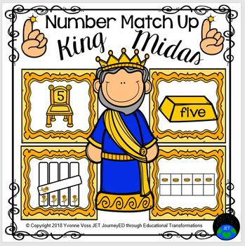 King Midas and the Golden Touch Number Match Up